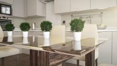 Kitchen animation daylight Stock Footage