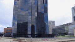 VIENNA, AUSTRIA Pan time lapse of United Nations office buildings Stock Footage
