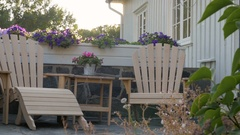 Two finished built chair in Kristiansand, Norway Stock Footage