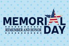 Happy Memorial Day greeting card. Happy Memorial Day poster.  Patriotic ban.. Stock Illustration
