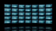 Animated video wall with distorted screens 4K Stock Footage