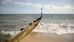 Bournemouth Beach Groyne Stock Footage