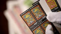 Vatican city, 1978 Sede Vacante stamps Stock Footage