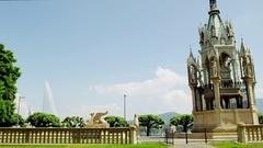 Geneva Monument Brunswick Stock Footage