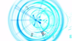 4k Circle figures time clocks busy wheels trade finance channel number space. Stock Footage