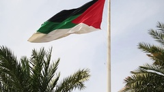 Flag of the Arab Revolt, Aqaba, Jordan Stock Footage