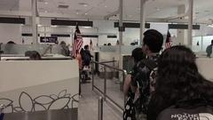 Visa on arrival at the Kuala Lumpur International Airport KLIA 2 Stock Footage