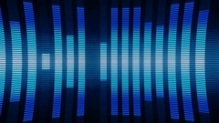 Classical Audio Equalizers Visualization Volume Bars VJ Loop Blue Stock Footage