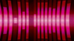 Classical Audio Equalizers Visualization Volume Bars VJ Loop Red Pink Stock Footage