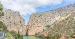 El Chorro canyon and Caminito del Rey Stock Footage