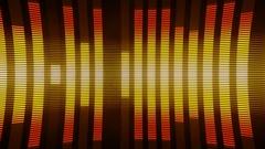 Classical Audio Equalizers Visualization Volume Bars VJ Loop  Orange Brown Stock Footage