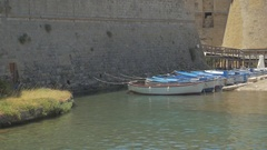 Harbor in a small town in southern Italy Stock Footage