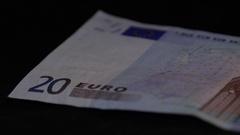 Europe euro paper money macro 4k Stock Footage