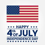 Happy Independence Day background template. Happy 4th of july poster. Happy.. Stock Illustration
