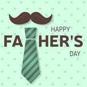 Happy Fathers Day greeting card. Happy Fathers Day poster. Vector. Stock Illustration
