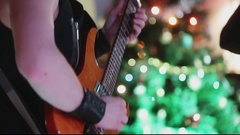 Play the electric guitar. Stock Footage