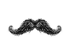 Mustache isolated. Facial hair on white background Stock Illustration