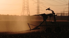 Excessive water wastage for agriculture in summer Stock Footage