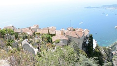 South of France and the Eze Coast Stock Footage