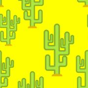 Cactus in desert seamless pattern. Large peyote from Yellow wilderness back.. Piirros