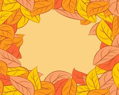 Autumn leaves Background. Yellow fallen leaf background Piirros