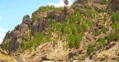 Cumbe Mayo in Peru. Scenery near Cajamarca Stock Footage