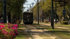 Street car uptown New Orleans Louisiana  Stock Footage