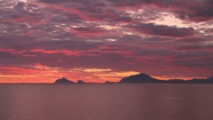 Time-lapse landscape of the sunset from Donna island, Norway, Nordland County, H Stock Footage
