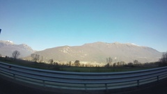 Alps View from the Road Stock Footage