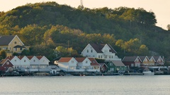 Houses at Flekkerøya - Kristiansand - Norway, close Stock Footage