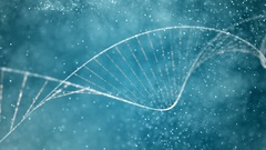 Medical background. Dna strand double helix blue sky Stock Footage