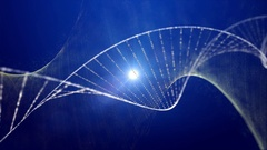 Medical background. Dna strand double helix blue Stock Footage