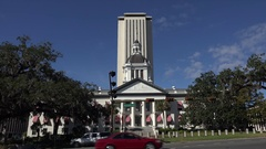Florida State Capitol building, Tallahassee and Historic Capitol Museum, USA Stock Footage