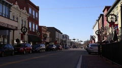 Downtown Lebanon, Ohio During The Day Stock Footage