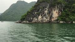Ha long bay vietnam dragon cruise at ship Stock Footage