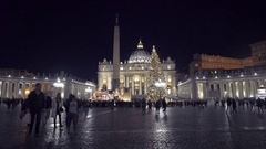 Suggestive view of St. Peter's during Christmas Stock Footage