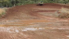 A man riding a motocross motorcycle. Stock Footage