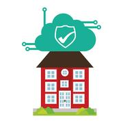Building home security cloud cyber technology Piirros