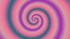 Animated  bright colorful spirals rotating on white, seamless. 4k, 3840 x 2160 Stock Footage