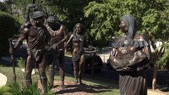 Seminole Native American sculpture, Tallahassee, USA Stock Footage