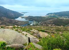 Mouth of Xallas river (Ezaro, Galicia, Spain). Stock Photos