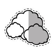 Cloud climate weather shadow Stock Illustration