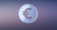Coin Euro Silver 3d Icon Stock Footage