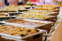 Catering wedding buffet food Stock Photos