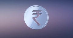 Coin Indian Rupee Silver 3d Icon Stock Footage