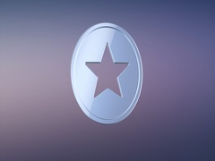 Star Badge Silver 3d Icon Stock Footage