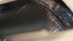 Man's Fingers Typing The Old Metal Typewriter, Retro Style. Close-up, dolly shot Stock Footage