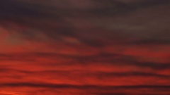 Concept red planet storms. Clouds resembling magical sunset or sunrise on Mars. Stock Footage