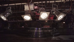 Lighting equipment in the theatre Stock Footage