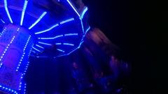 Carousel turnong night Stock Footage